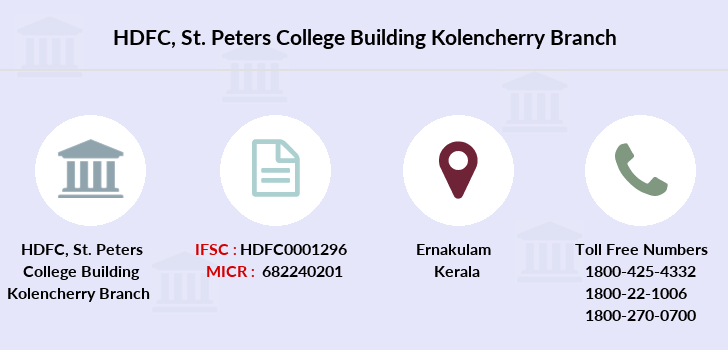 Hdfc-bank St-peters-college-building-kolencherry branch