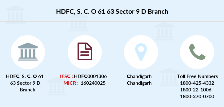Hdfc-bank S-c-o-61-63-sector-9-d branch