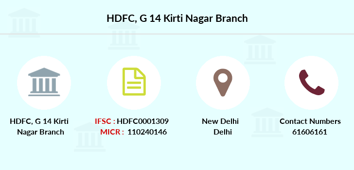 Hdfc-bank G-14-kirti-nagar branch
