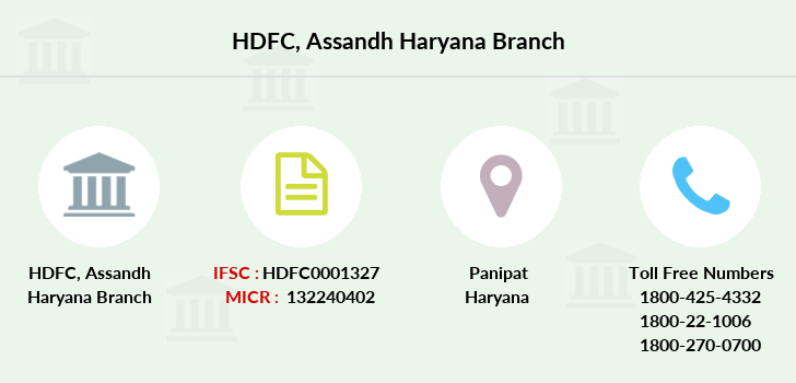 Hdfc-bank Assandh-haryana branch
