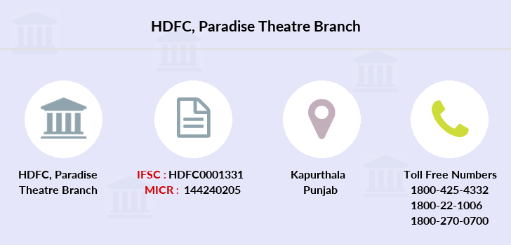 Hdfc-bank Paradise-theatre branch