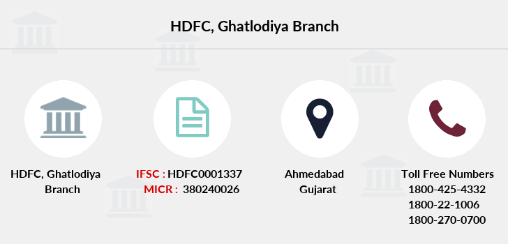 Hdfc-bank Ghatlodiya branch
