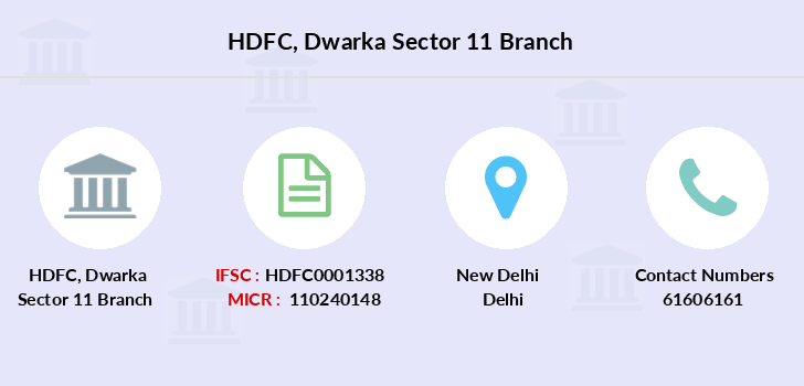 Hdfc-bank Dwarka-sector-11 branch