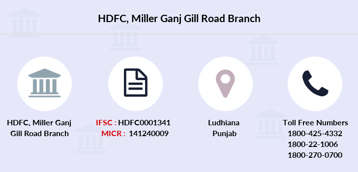 Hdfc-bank Miller-ganj-gill-road branch
