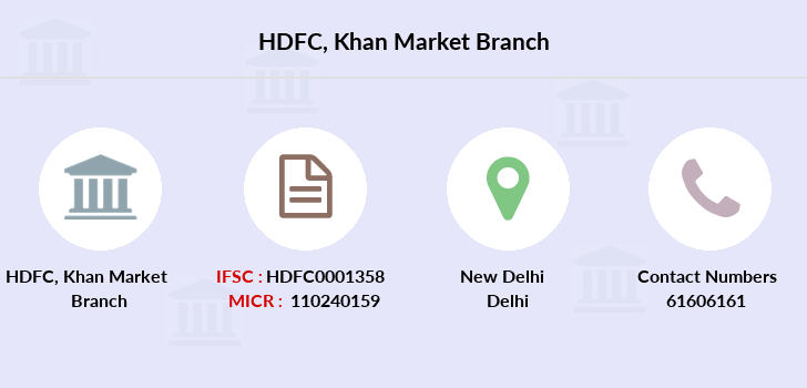Hdfc-bank Khan-market branch