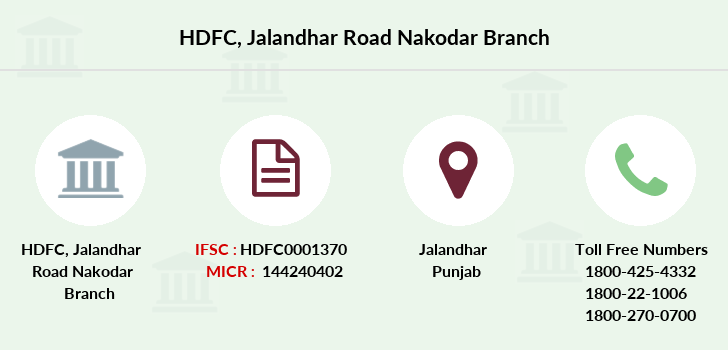 Hdfc-bank Jalandhar-road-nakodar branch