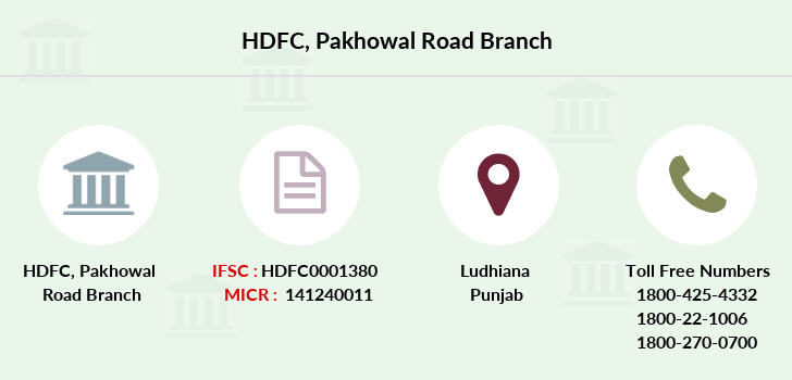 Hdfc-bank Pakhowal-road branch