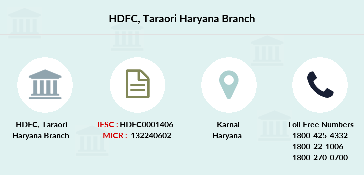 Hdfc-bank Taraori-haryana branch