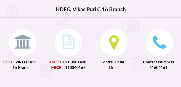 Hdfc-bank Vikas-puri-c-16 branch
