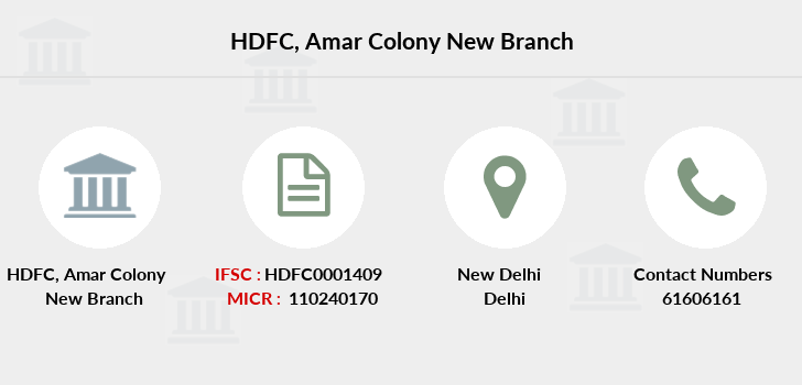 Hdfc-bank Amar-colony-new branch