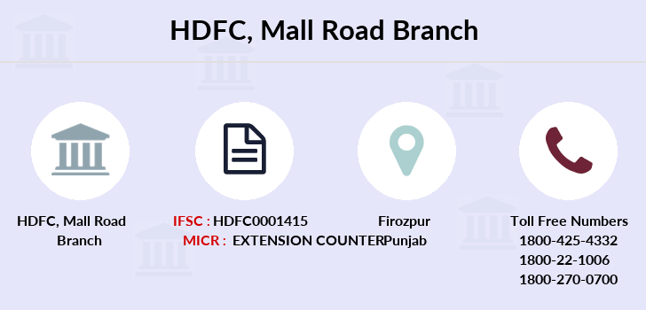 Hdfc-bank Mall-road branch
