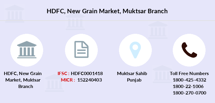 Hdfc-bank New-grain-market-muktsar branch