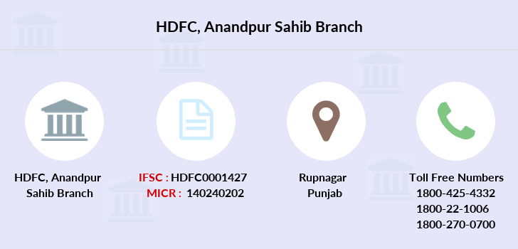 Hdfc-bank Anandpur-sahib branch