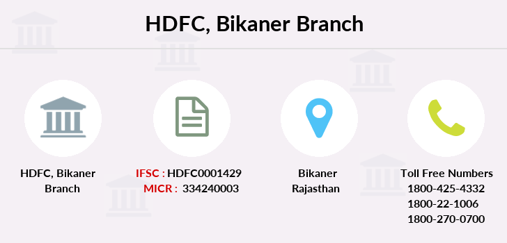 Hdfc-bank Bikaner branch