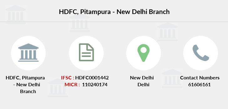 hdfc bank branches in delhi list