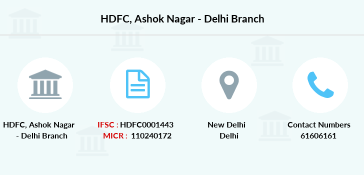 Hdfc-bank Ashok-nagar-delhi branch