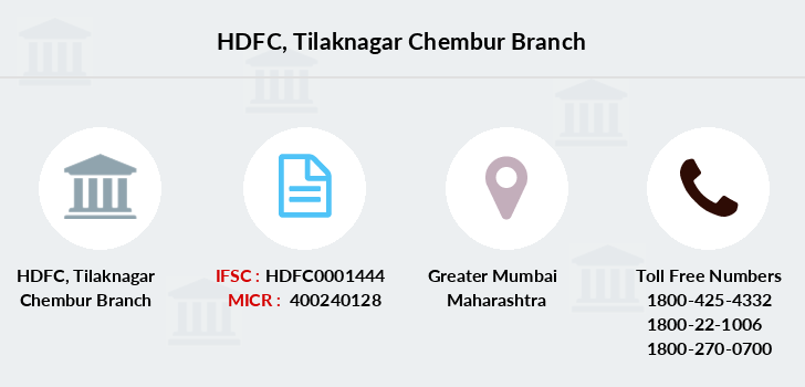 Hdfc-bank Tilaknagar-chembur branch