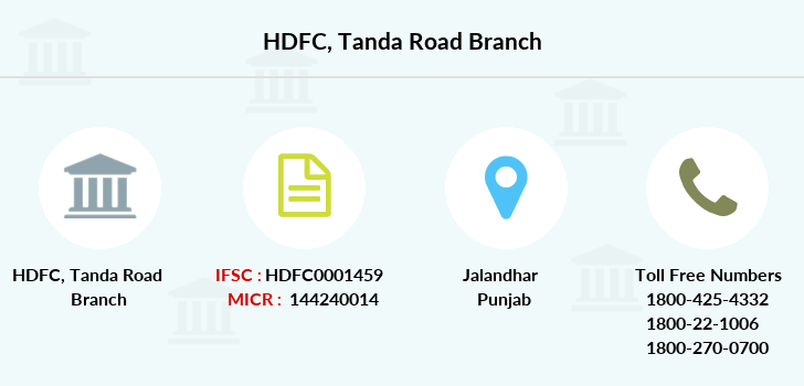 Hdfc-bank Tanda-road branch