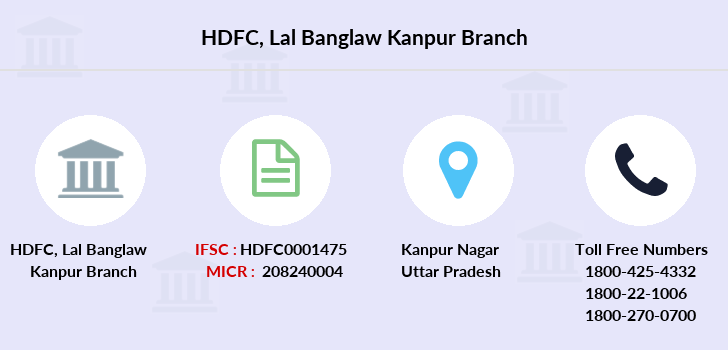 Hdfc-bank Lal-banglaw-kanpur branch