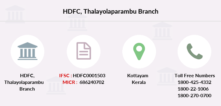Hdfc-bank Thalayolaparambu branch