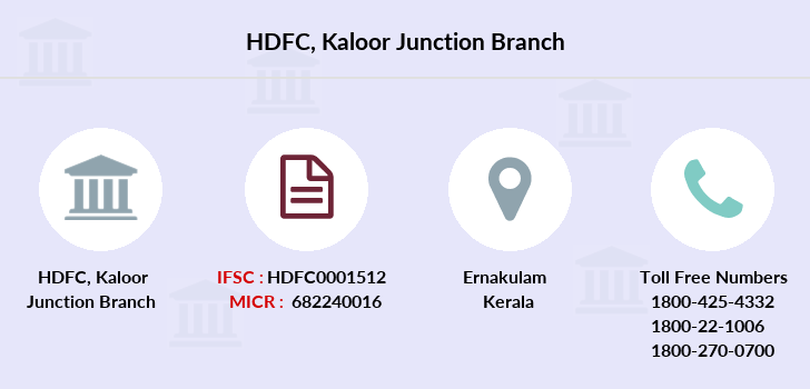 Hdfc-bank Kaloor-junction branch
