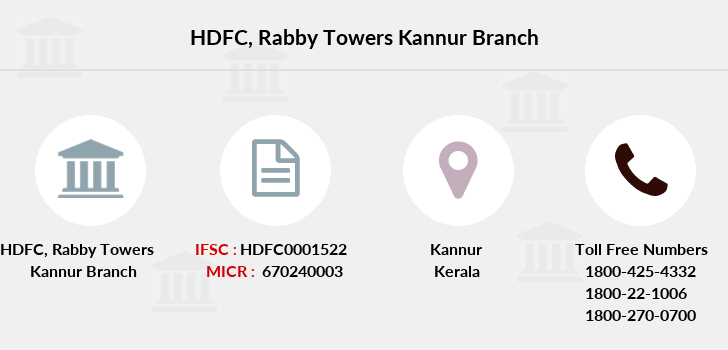 Hdfc-bank Rabby-towers-kannur branch