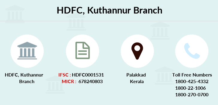 Hdfc-bank Kuthannur branch