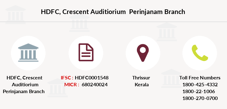 Hdfc-bank Crescent-auditiorium-perinjanam branch