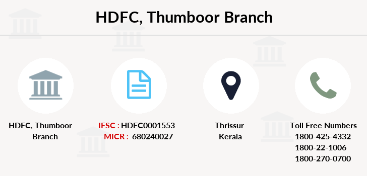 Hdfc-bank Thumboor branch