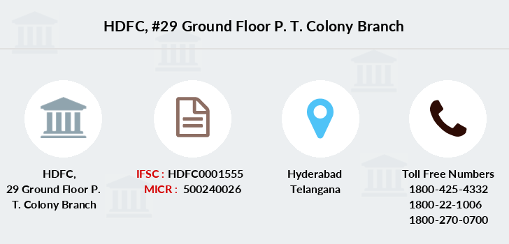 Hdfc-bank 29-ground-floor-p-t-colony branch