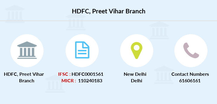 Hdfc-bank Preet-vihar branch