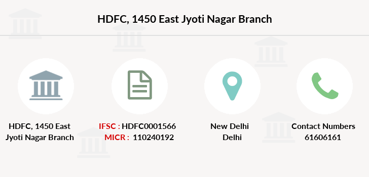 Hdfc-bank 1450-east-jyoti-nagar branch
