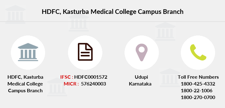 Hdfc-bank Kasturba-medical-college-campus branch