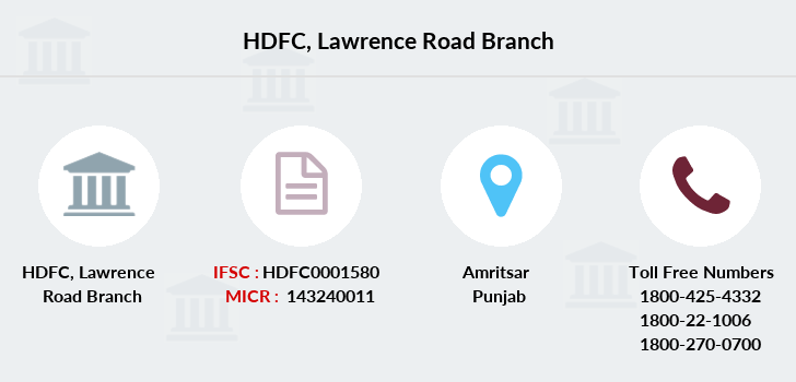 Hdfc-bank Lawrence-road branch