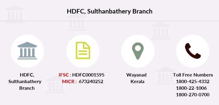 Hdfc-bank Sulthanbathery branch