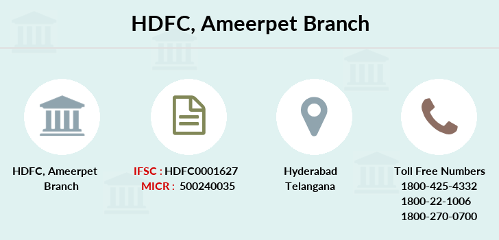 Hdfc-bank Ameerpet branch