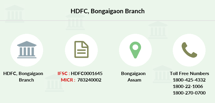 Hdfc-bank Bongaigaon branch