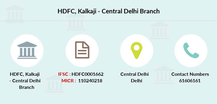 Hdfc-bank Kalkaji-central-delhi branch