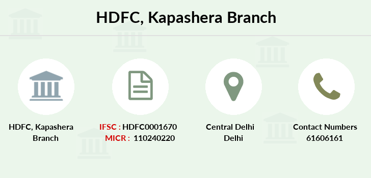 Hdfc-bank Kapashera branch