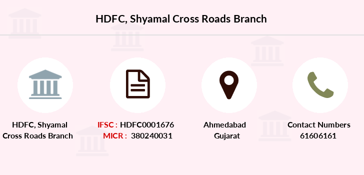 Hdfc-bank Shyamal-cross-roads branch