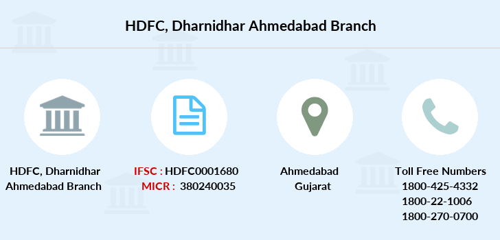 Hdfc-bank Dharnidhar-ahmedabad branch