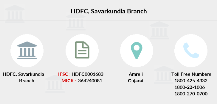 Hdfc-bank Savarkundla branch