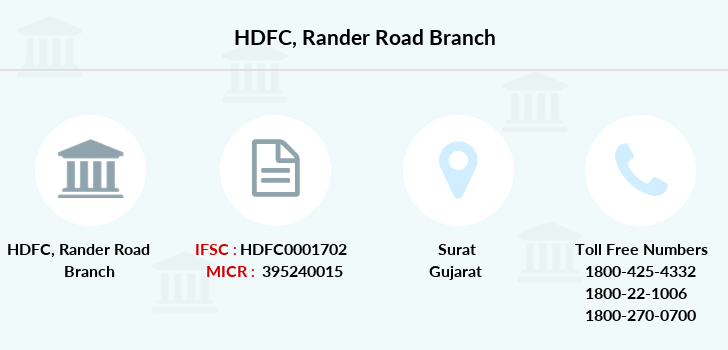 Hdfc-bank Rander-road branch
