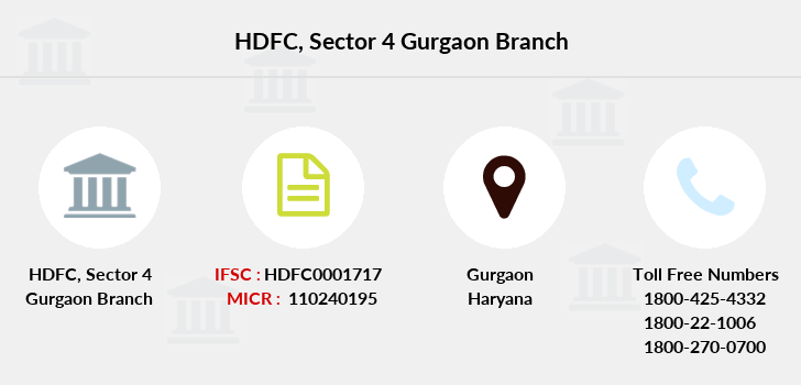 Hdfc-bank Sector-4-gurgaon branch