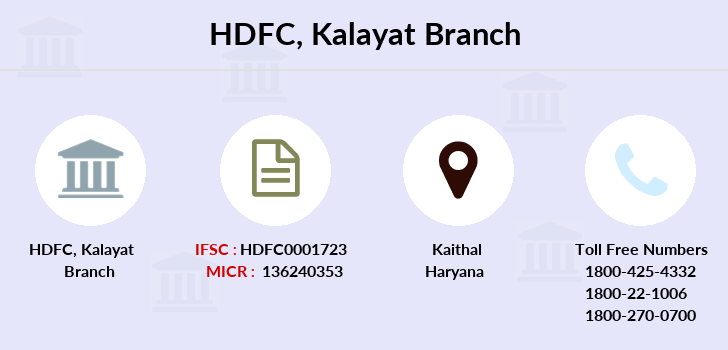 Hdfc-bank Kalayat branch