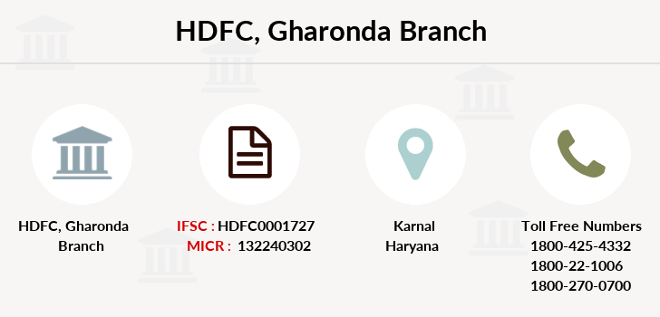 Hdfc-bank Gharonda branch