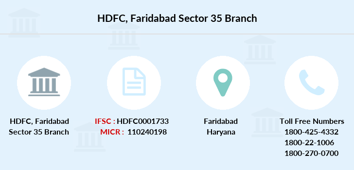 Hdfc-bank Faridabad-sector-35 branch