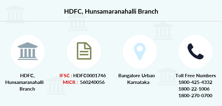 Hdfc-bank Hunsamaranahalli branch