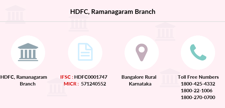 Hdfc-bank Ramanagaram branch