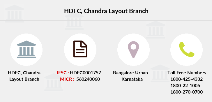 Hdfc-bank Chandra-layout branch
